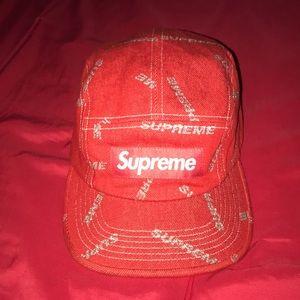 Red Denim Supreme Hat